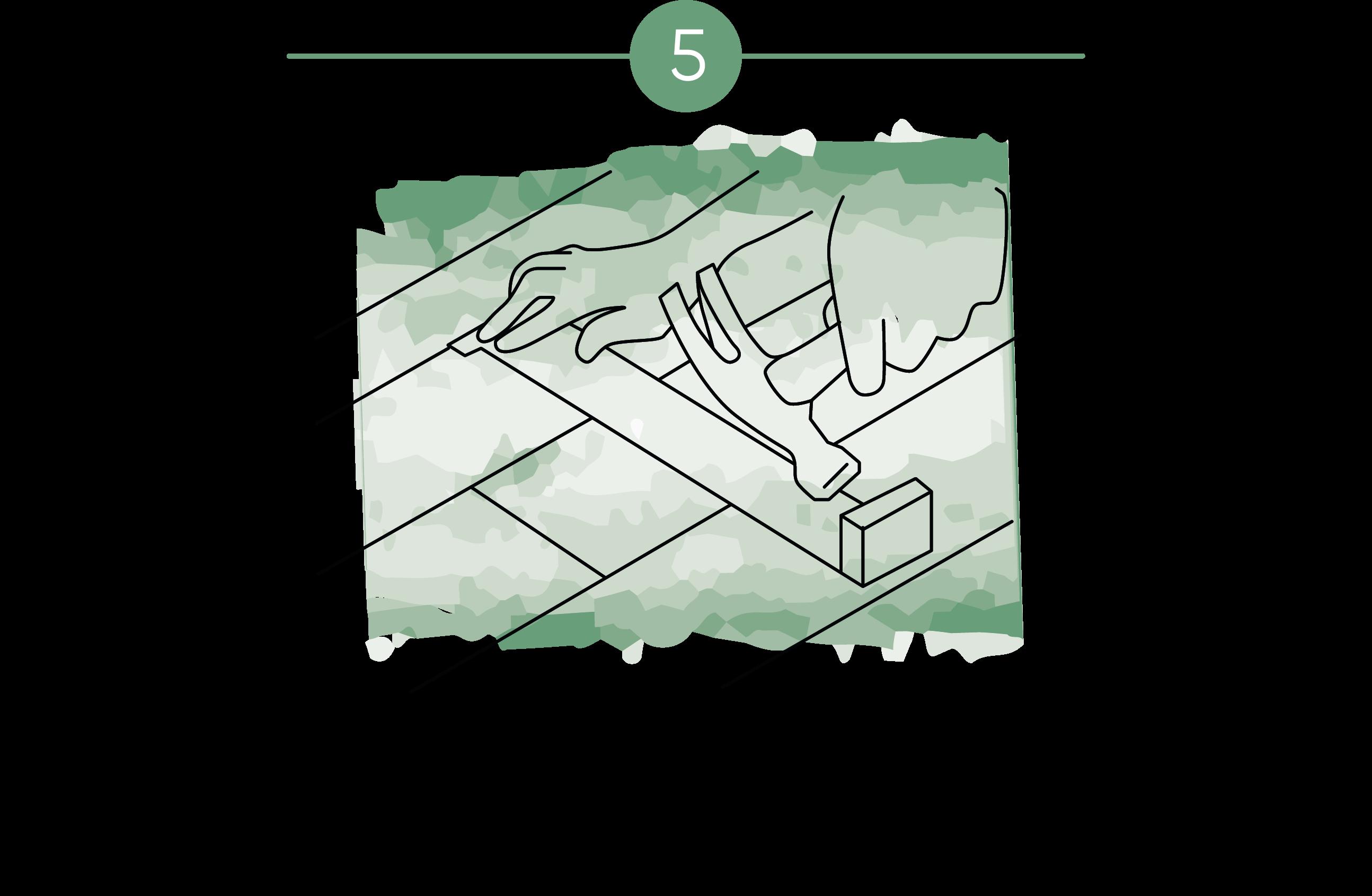 Ilustración que muestra que al colocar parquet el instalador usa las herramientas adecuadas para cada caso