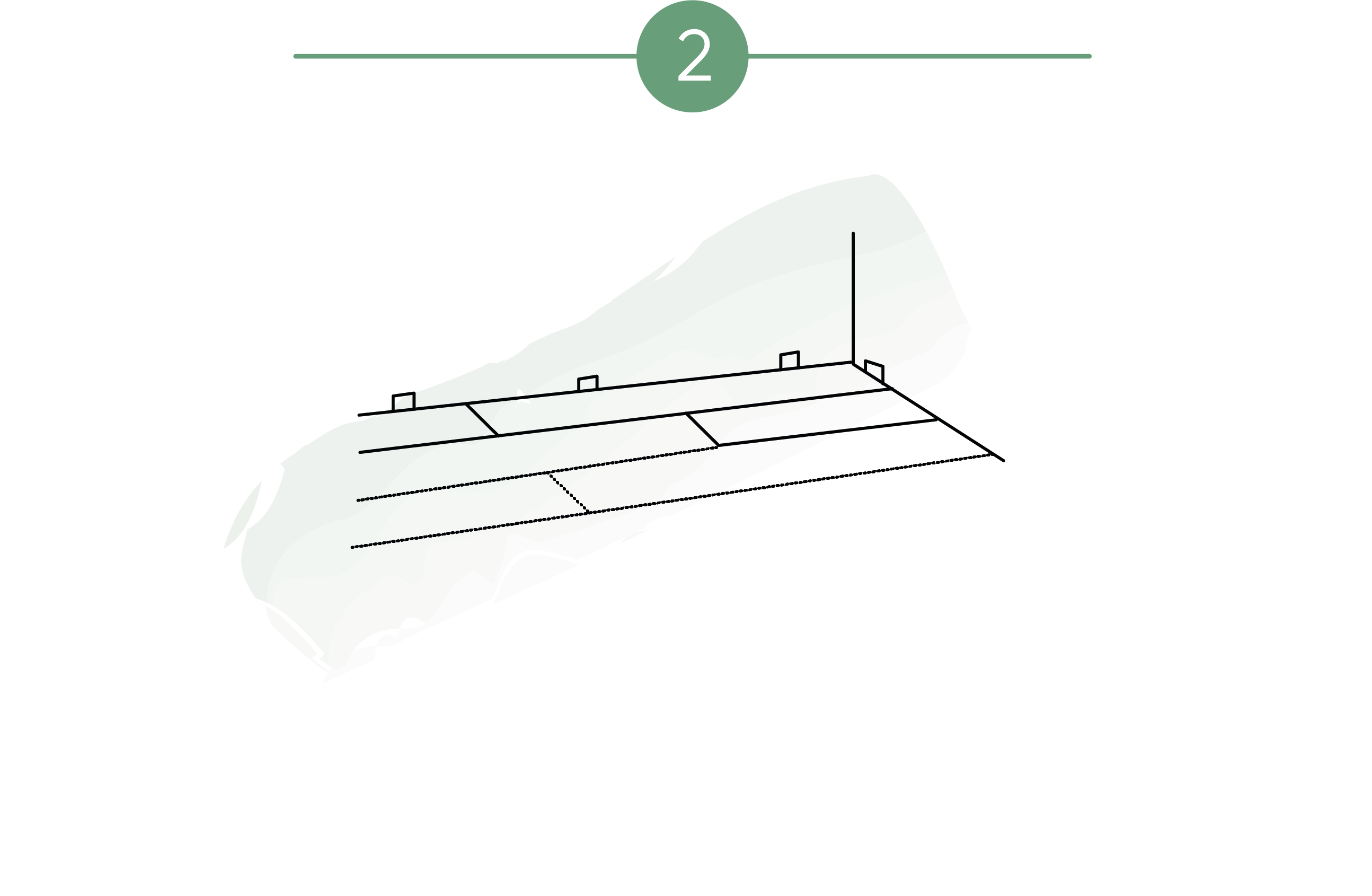 Ilustración que muestra que al colocar parquet el instalador establece juntas de dilatación