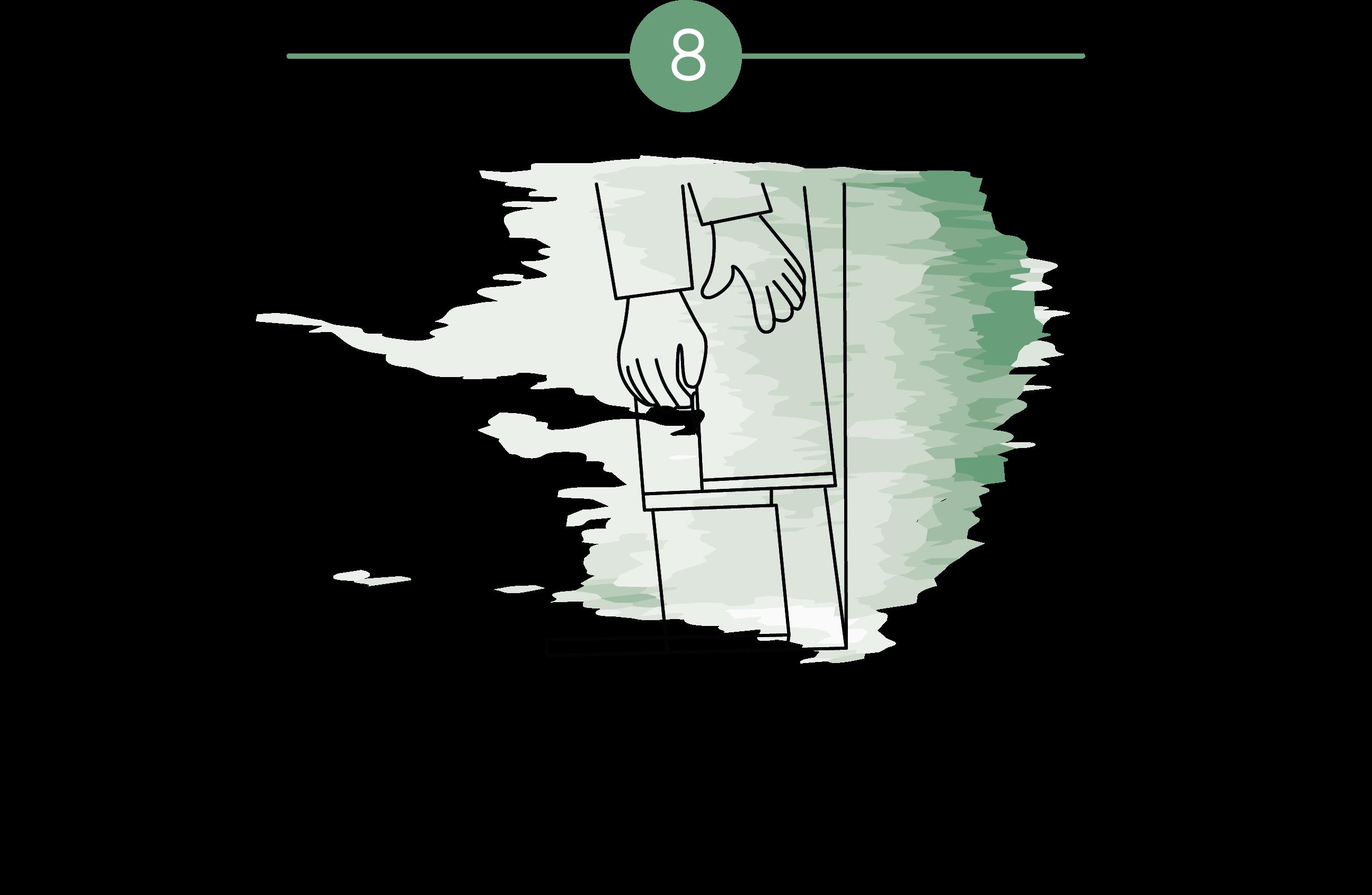 Ilustración que muestra que al instalar parquet el instalador sierra la última lama al ancho requerido