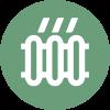 Picto que representa la calefacción por suelo radiante