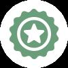 Picto que representa la inspección de calidad y responsabilidad por defectos del parquet