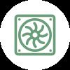 Picto que representa la refrigeración bajo el suelo de parquet